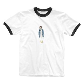 冬の足音 Ringer T-shirts