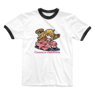 ウロボロスの冠Tシャツ Ringer T-shirts