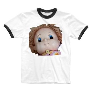 意図を汲ませない Ringer T-shirts
