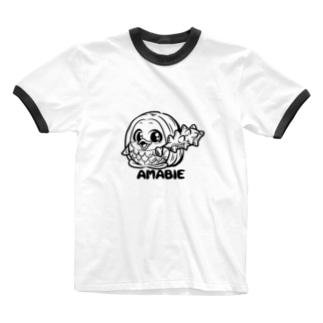 アマビヱちゃん Ringer T-shirts