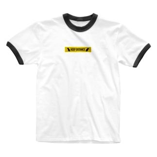 KEEP DISTANCE Ringer T-shirts