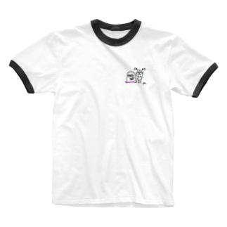 おばけとおんなのコ Ringer T-shirts