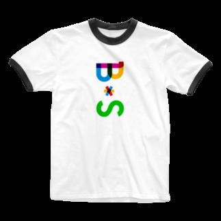 marikiroのBS initial Ringer T-shirts
