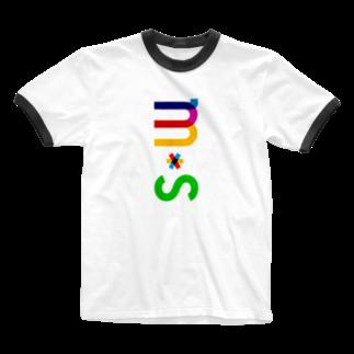 marikiroのMS initial Ringer T-shirts