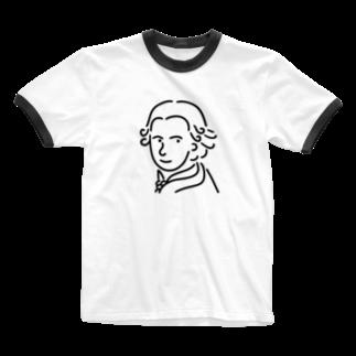 Aliviostaのモーツァルト イラスト 3 Ringer T-shirts