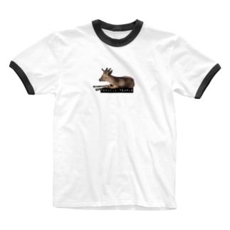 サのなら-2B- Ringer T-shirts