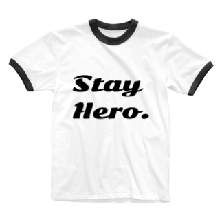 Stay Hero. Ringer T-shirts