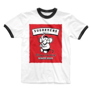 sugarmero_elephant01 Ringer T-shirts