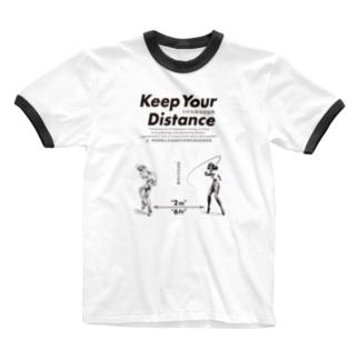 濃厚接触禁止 Ringer T-shirts