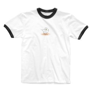 まめるりはことりのセキセイインコ レティ【まめるりはことり】 Ringer T-shirts