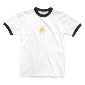 まめるりはことりのオカメインコ おすましルチノー【まめるりはことり】 Ringer T-shirts