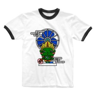 風神 Ringer T-shirts