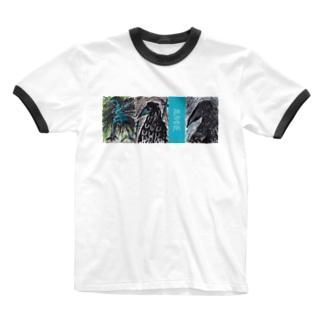 HAREAMEのAME Ringer T-shirts