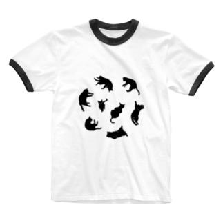 Kitties (Black Ringer T-shirts