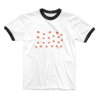 メンダコドット Ringer T-shirts