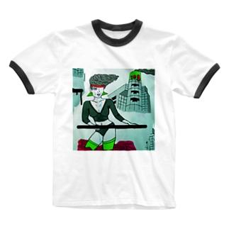 エアロビクス教室 Ringer T-shirts