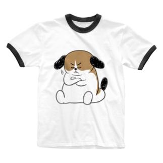 もじゃまる納得 Ringer T-shirts