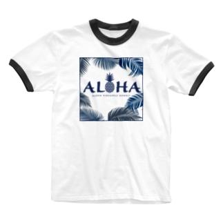 ALOHA パームツリー 155 Ringer T-shirts