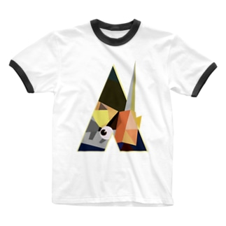 時計仕掛けのポリゴン Ringer T-shirts