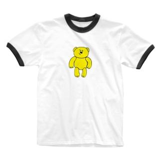 宮部のクマちゃん Ringer T-shirts