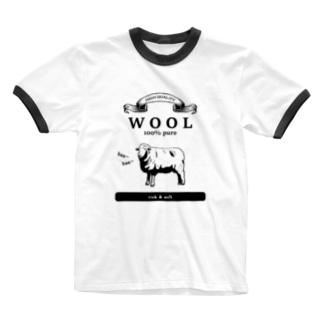 ウール100% Ringer T-shirts