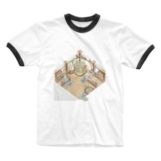 The little garden shop Ringer T-shirts