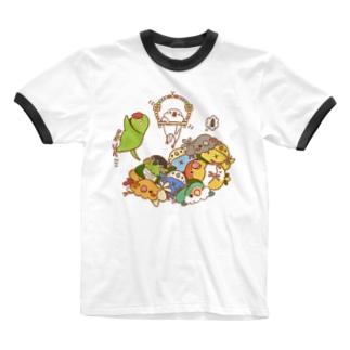 トリとるブランコ Ringer T-shirts