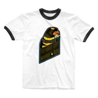 コシジロインコのミッドナイトクラブ Ringer T-shirts