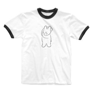 モデル立ちのうさちゃん Ringer T-shirts