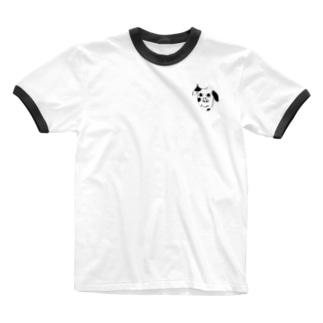 真顔 Ringer T-shirts
