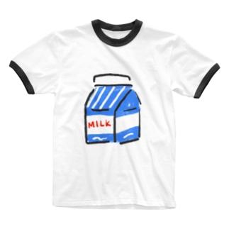 ぎゅにゅたっぷり Ringer T-shirts