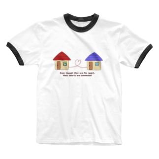 離れていても心は繋がっています Ringer T-shirts