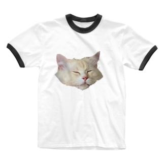 うちのねこ Ringer T-shirts