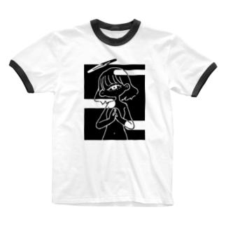 祈りを華を-影 Ringer T-shirts