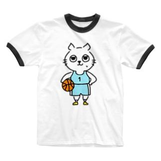バスケットボール(1番) Ringer T-shirts