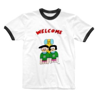 ウェルカム一家 Ringer T-shirts