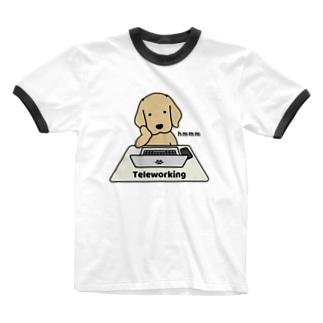 テレワーク Ringer T-shirts
