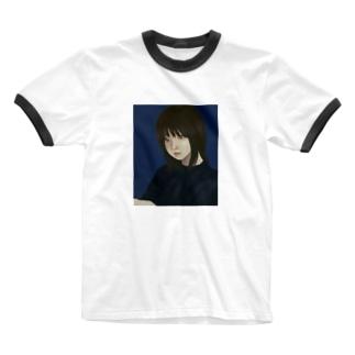内斜視 Ringer T-shirts