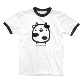 でかでかひよこうし Ringer T-shirts