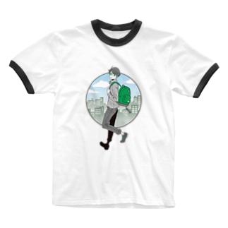 眼鏡男子 Ringer T-shirts