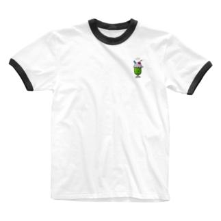 しゅわしゅわメロンソーダ Ringer T-shirts
