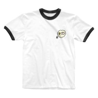 未 ひつじ Ringer T-shirts