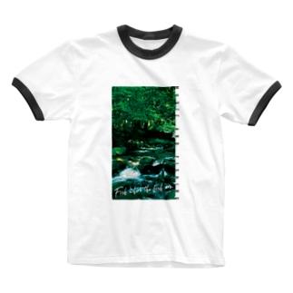 Fishing Spot T shirts Trout Ringer T-shirts