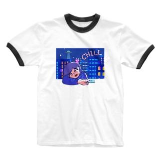 chill チル 161 Ringer T-Shirt