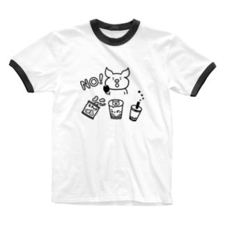 意志の強いブタ Ringer T-shirts