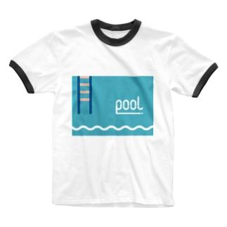 pool2 Ringer T-shirts