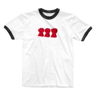 前方後♡墳 Ringer T-shirts