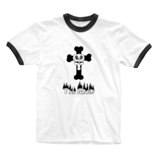 naminaのThe END Ringer T-shirts