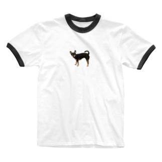 可愛すぎる犬 Ringer T-shirts