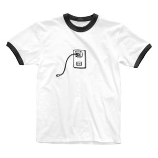 麦畑のiPhone充電器 Ringer T-shirts